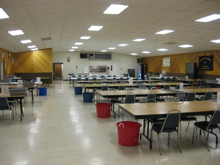 Hall set up for bingo